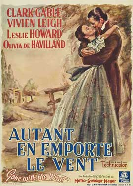 Gone with the Wind - 27 x 40 Movie Poster - Belgian Style A
