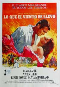 Gone with the Wind - 11 x 17 Movie Poster - Spanish Style F