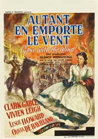 Gone with the Wind - 27 x 40 Movie Poster - Belgian Style B