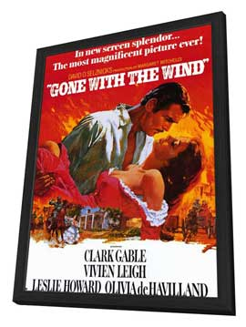Gone with the Wind - 11 x 17 Movie Poster - Style I - in Deluxe Wood Frame