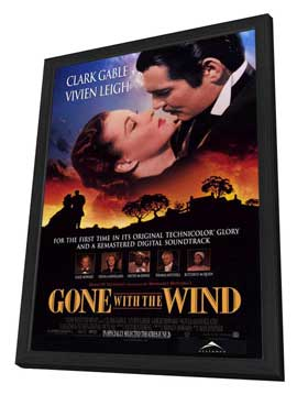 Gone with the Wind - 27 x 40 Movie Poster - Style A - in Deluxe Wood Frame