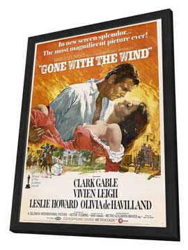 Gone with the Wind - 27 x 40 Movie Poster - Style N - in Deluxe Wood Frame