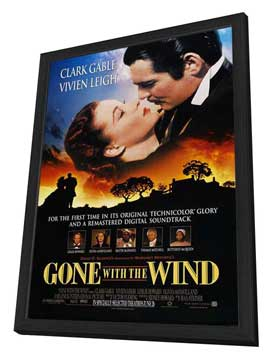 Gone with the Wind - 27 x 40 Movie Poster - Style S - in Deluxe Wood Frame