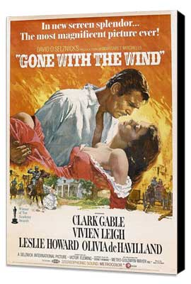 Gone with the Wind - 11 x 17 Poster - Style AF - Museum Wrapped Canvas