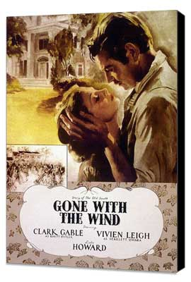 Gone with the Wind - 27 x 40 Movie Poster - Style P - Museum Wrapped Canvas