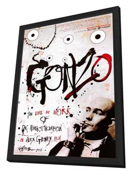 Gonzo: The Life and Work of Dr. Hunter S. Thompson - 11 x 17 Movie Poster - Style A - in Deluxe Wood Frame