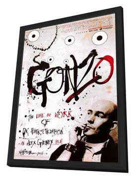 Gonzo: The Life and Work of Dr. Hunter S. Thompson - 27 x 40 Movie Poster - Style A - in Deluxe Wood Frame