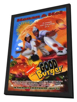 Good Burger - 11 x 17 Movie Poster - Style A - in Deluxe Wood Frame