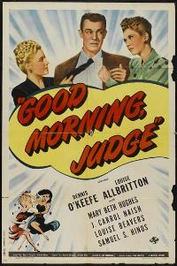 Good Morning, Judge - 27 x 40 Movie Poster - Style A