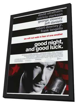 Good Night and Good Luck - 27 x 40 Movie Poster - Style A - in Deluxe Wood Frame
