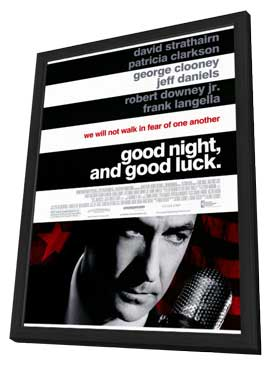 Good Night and Good Luck - 11 x 17 Movie Poster - Style A - in Deluxe Wood Frame