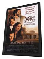 Good Will Hunting - 11 x 17 Movie Poster - Style B - in Deluxe Wood Frame