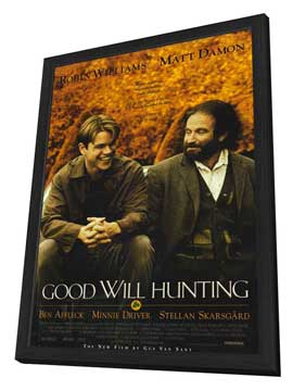 Good Will Hunting - 11 x 17 Movie Poster - Style A - in Deluxe Wood Frame