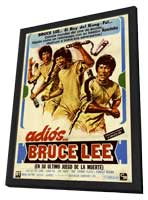 Goodbye Bruce Lee: His Last Game of Death - 11 x 17 Poster - Foreign - Style A - in Deluxe Wood Frame