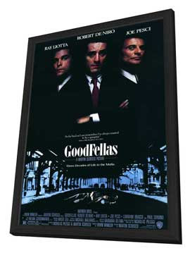 Goodfellas - 11 x 17 Movie Poster - Style A - in Deluxe Wood Frame