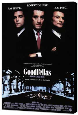 Goodfellas - 27 x 40 Movie Poster - Style A - Museum Wrapped Canvas