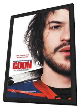 Goon - 11 x 17 Movie Poster - Style D - in Deluxe Wood Frame