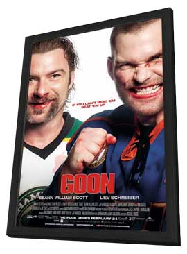 Goon - 11 x 17 Movie Poster - Style F - in Deluxe Wood Frame