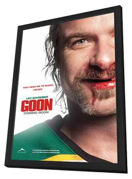 Goon - 11 x 17 Movie Poster - Canadian Style A - in Deluxe Wood Frame