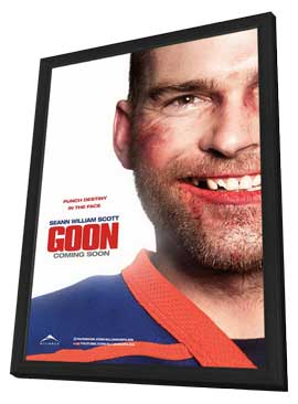 Goon - 11 x 17 Movie Poster - Canadian Style B - in Deluxe Wood Frame