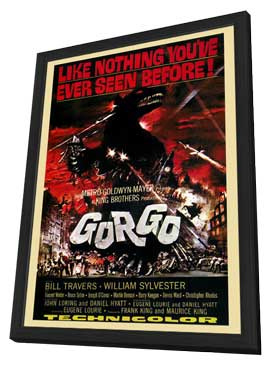 Gorgo - 27 x 40 Movie Poster - Style A - in Deluxe Wood Frame