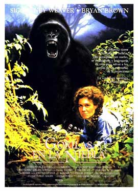 Gorillas in the Mist - 11 x 17 Movie Poster - Spanish Style A