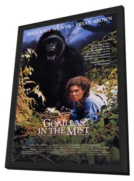 Gorillas in the Mist - 11 x 17 Movie Poster - Style A - in Deluxe Wood Frame