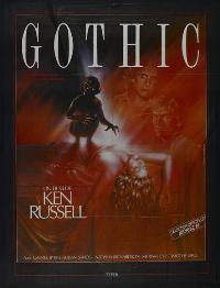 Gothic - 11 x 17 Movie Poster - French Style A