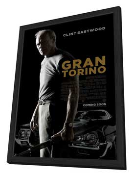 Gran Torino - 11 x 17 Movie Poster - Style A - in Deluxe Wood Frame