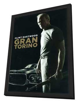 Gran Torino - 27 x 40 Movie Poster - Polish Style B - in Deluxe Wood Frame