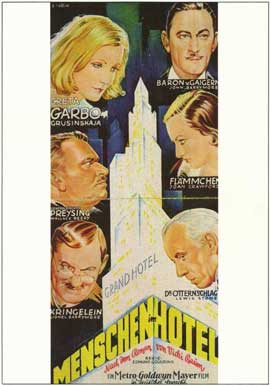 Grand Hotel - 11 x 17 Movie Poster - German Style A