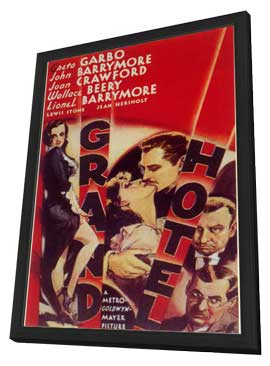 Grand Hotel - 11 x 17 Movie Poster - Style A - in Deluxe Wood Frame