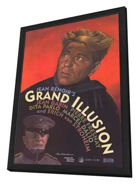 Grand Illusion - 27 x 40 Movie Poster - Style B - in Deluxe Wood Frame