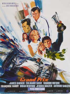 Grand Prix - 11 x 17 Movie Poster - French Style A