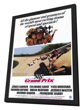 Grand Prix - 11 x 17 Movie Poster - Style A - in Deluxe Wood Frame