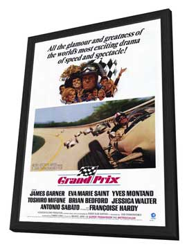 Grand Prix - 27 x 40 Movie Poster - Style A - in Deluxe Wood Frame