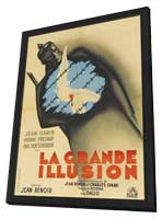 Grande Illusion - 27 x 40 Movie Poster - French Style F - in Deluxe Wood Frame