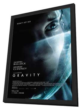 Gravity - 27 x 40 Movie Poster - Style A - in Deluxe Wood Frame