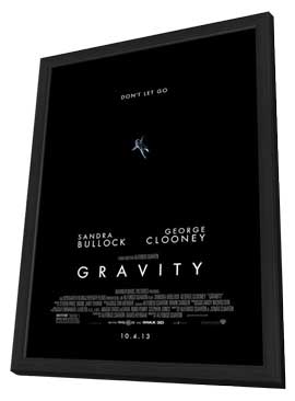 Gravity - 11 x 17 Movie Poster - Style B - in Deluxe Wood Frame