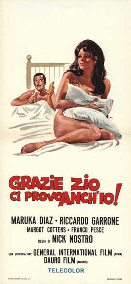 Grazie zio, ci provo anch'io - 13 x 28 Movie Poster - Italian Style A