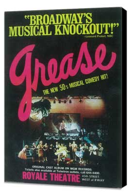 Grease (Broadway) - 11 x 17 Poster - Style B - Museum Wrapped Canvas