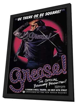 Grease (Broadway) - 27 x 40 Poster - Style A - in Deluxe Wood Frame