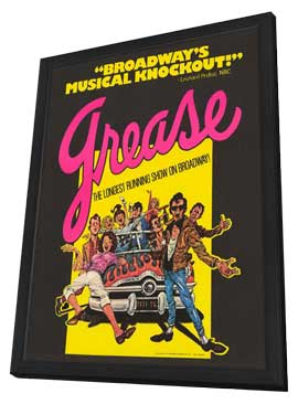 Grease (Broadway) - 14 x 22 Poster - Style A - in Deluxe Wood Frame