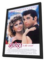 Grease - 11 x 17 Movie Poster - Style A - in Deluxe Wood Frame