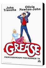 Grease - 27 x 40 Movie Poster - Style D - Museum Wrapped Canvas