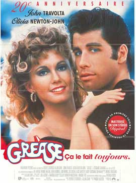Grease - 11 x 17 Movie Poster - French Style A