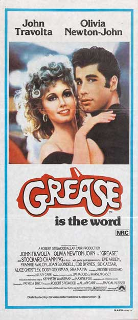 Grease - 13 x 30 Movie Poster - Australian Style A