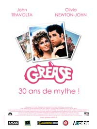 Grease - 27 x 40 Movie Poster - French Style B