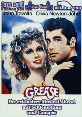 Grease - 27 x 40 Movie Poster - German Style A