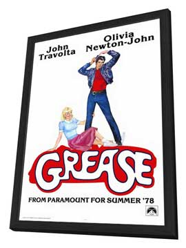 Grease - 11 x 17 Movie Poster - Style B - in Deluxe Wood Frame